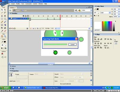 Video tutorial de una animación simple en flash MX 2004