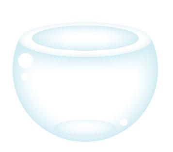 Tazón de cristal en Illustrtator