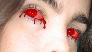 Crear ojos empapados sangre