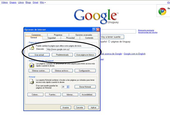 how to set google as homepage internet explorer 11