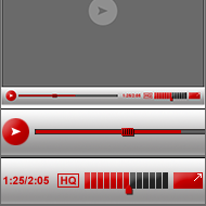 Free psd video player design