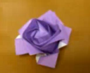 Rosa en origami