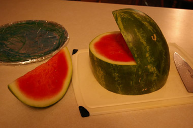 cut watermelon