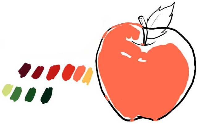 Tutoriais Flash Painting an Apple in Photoshop CS | Only Photoshop Draw-an-apple-03