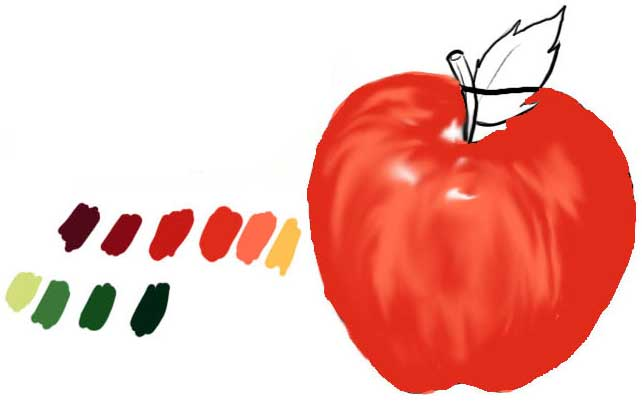Tutoriais Flash Painting an Apple in Photoshop CS | Only Photoshop Draw-an-apple-04