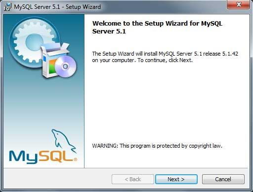 instalar mysql: