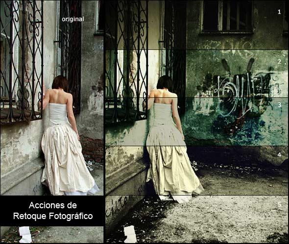 Acciones de retoque fotográfico