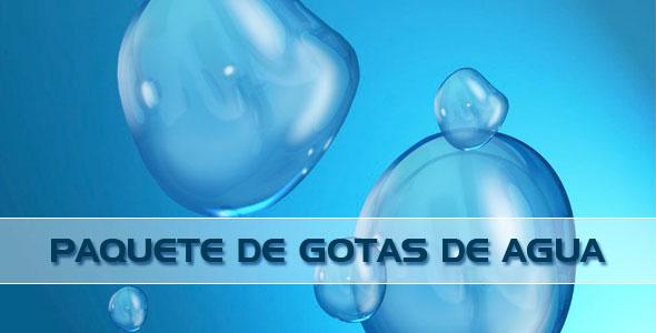 paquete de gotas de agua