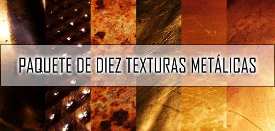 Descargar paquete de 10 texturas metálicas