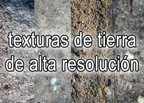 Descargar texturas de tierra de alta resolución