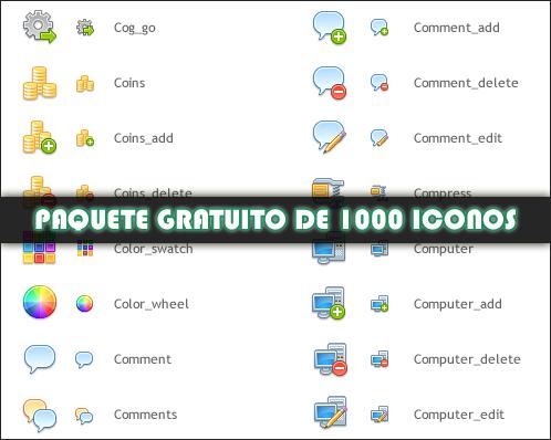 Paquete gratuito de 1000 iconos