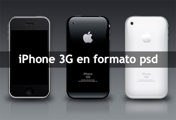 iPhone 3G en formato psd