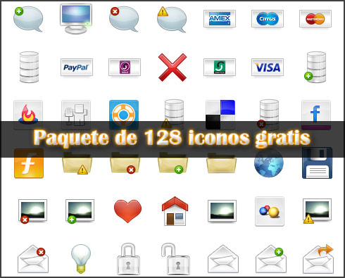 Paquete de 128 iconos gratis