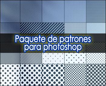 Paquete de patrones para photoshop