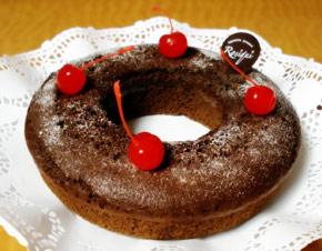 Rosca de Chocolate Rellena de Cajeta