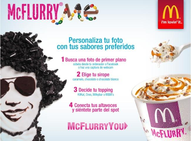 McDonalds McFlurry en Facebook