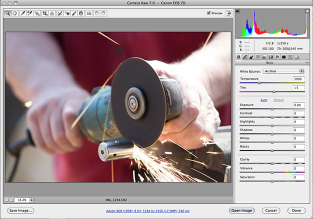 Plugin Photoshop Camera Raw 7 en Photoshop CS6