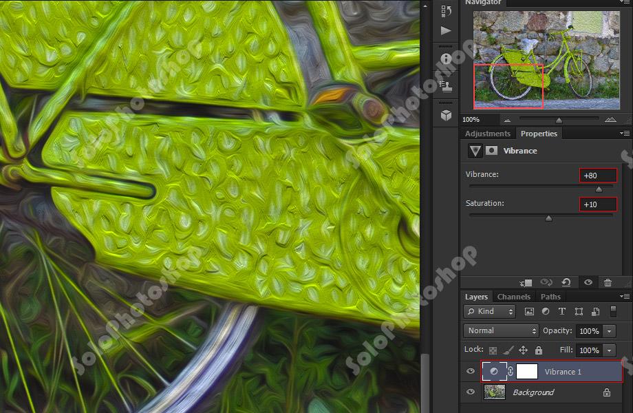 Efecto Vibrance en Photoshop