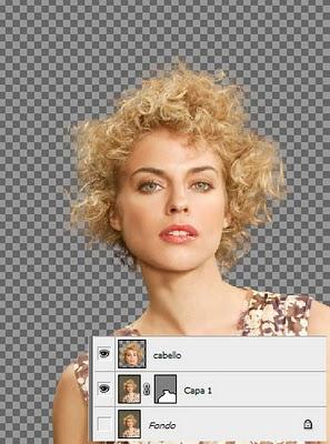 Visualizar capa cabello