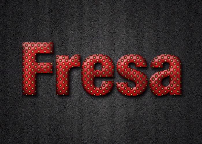 Textura Fresa con Photoshop
