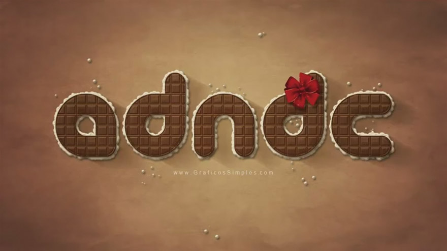 Efecto de Texto Chocolate con Photoshop