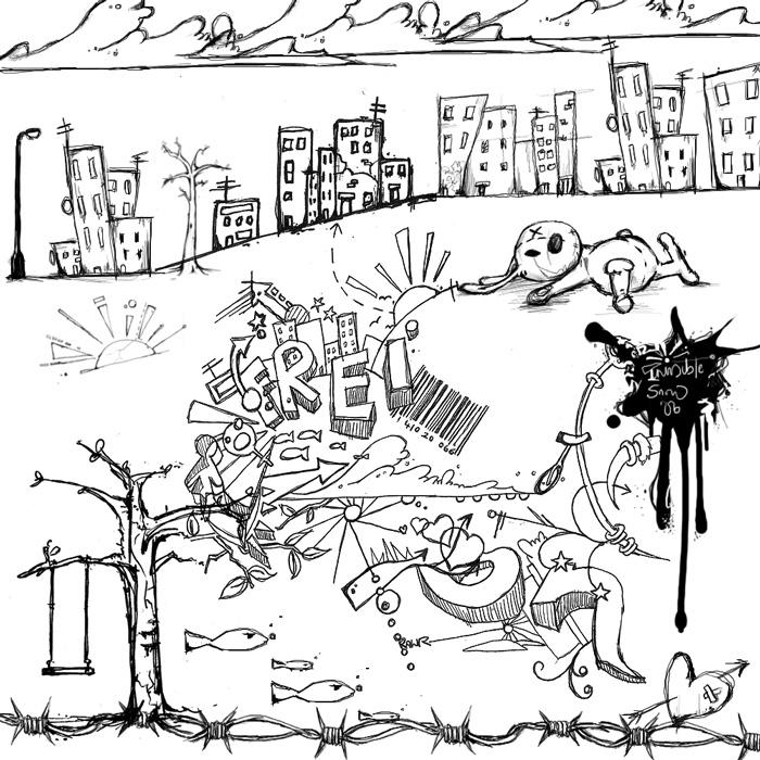 Pinceles de Grafitis y Garabatos Urbanos