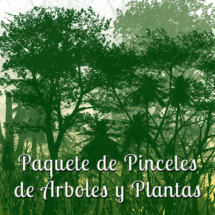Paquete de Pinceles de Árboles y Plantas