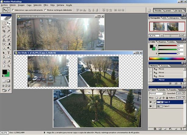 Crear Panoramicas en Photoshop