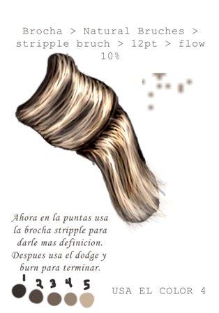 Dibujar cabello con pintura digital 08