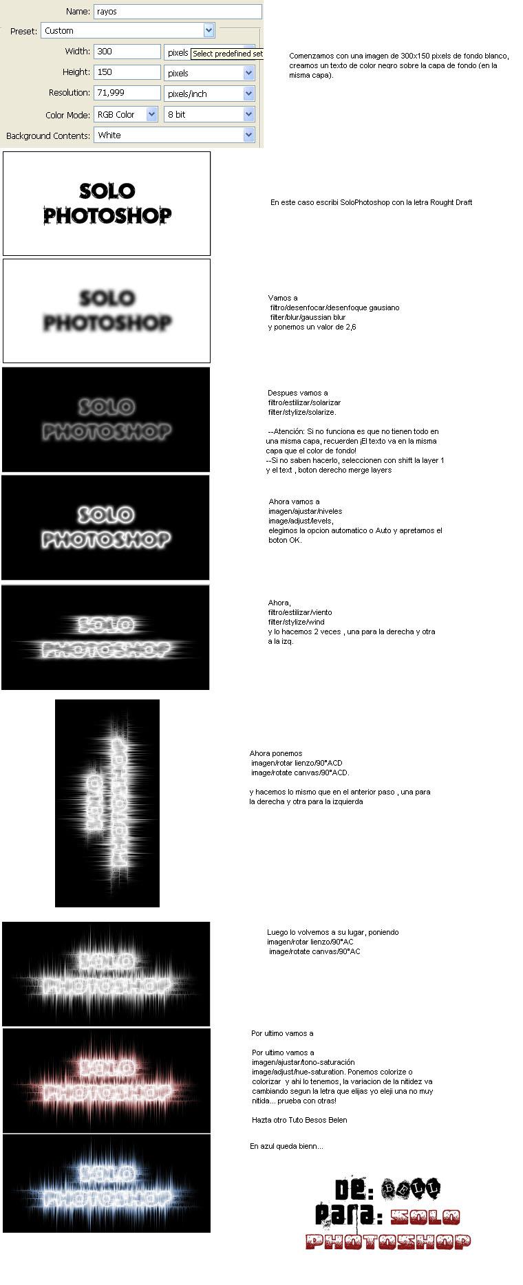 Efecto de Texto Rayos