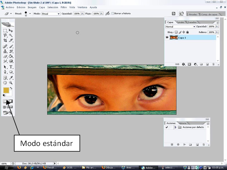 Cambio de Color Ojos Oscuros Photoshop 03 Máscara Rápida