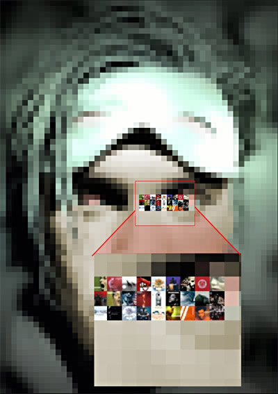Tutorial Mosaico con carátulas con photoshop 11