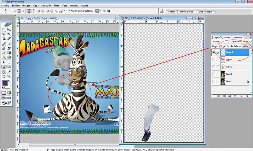 Tutorial Fotomontaje con Fondo de Caricatura 09