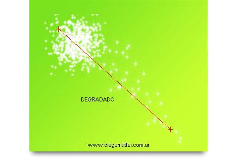 Particula con degradado