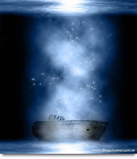 Barco Fondo negro