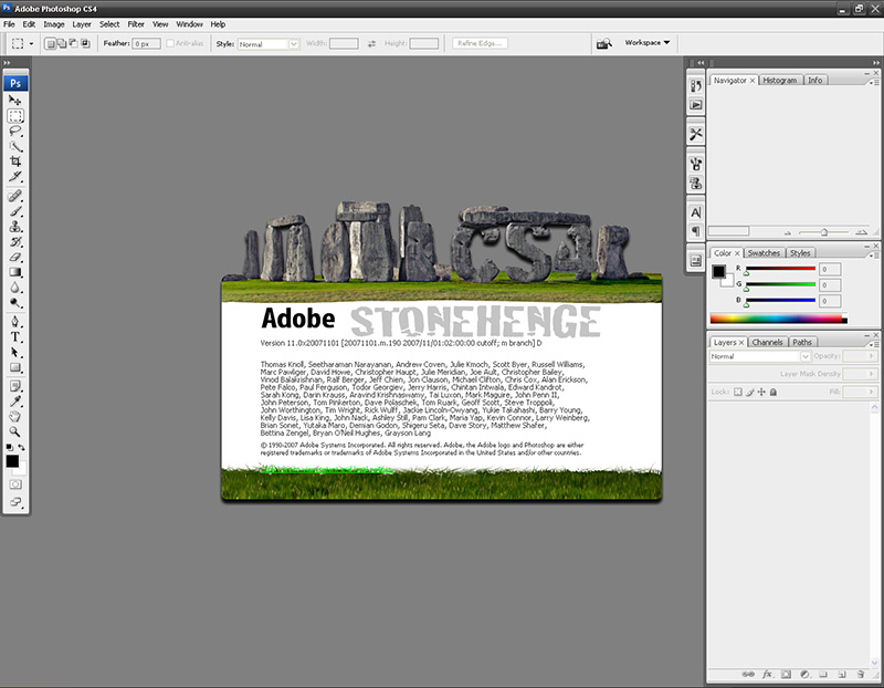 Adobe Photoshop CS4Stonehenge