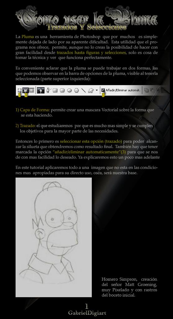 tutorial photoshop Selecciones y Trazados con la Herramienta Pluma 01
