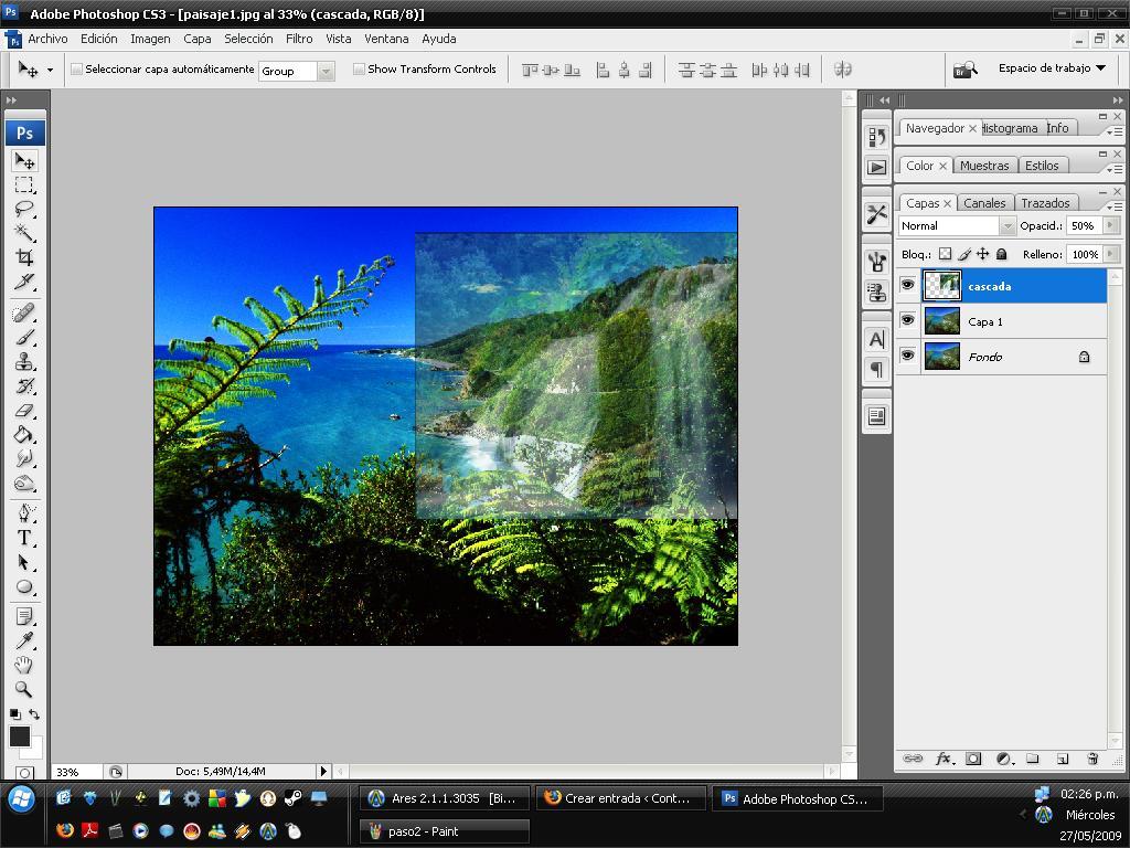 Integrar cascada en paisaje 03