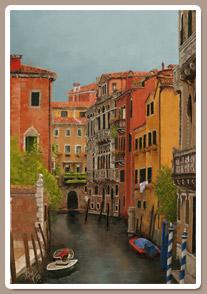 Pintando los Canales de Venecia
