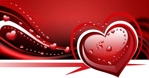Waved Valentine background with hearts | Tutorial Valley