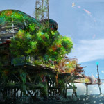 Combine Digital Painting and Photo Manipulation to Create a Platform Environment