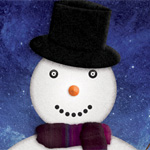 Design A Cartoon Christmas Snowman in Photoshop