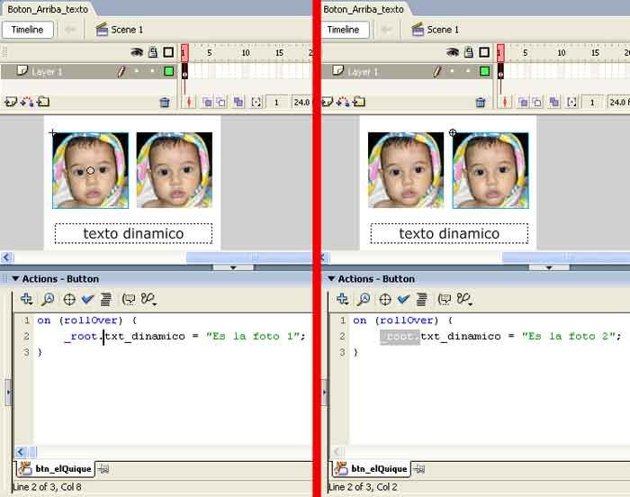 ActionScript para el Texto Dinamico