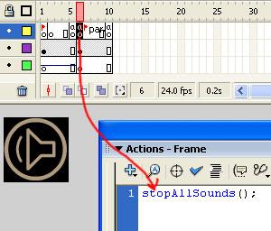 Accion StopAllSounds Frame 6