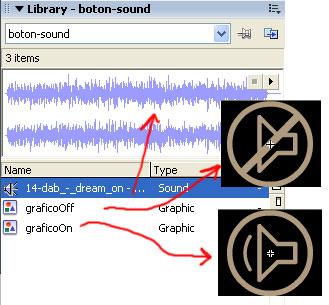 Biblioteca de Sonido y Botones