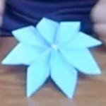 fabricar flor en origami
