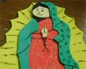 Virgen de Guadalupe y Angelito en foami