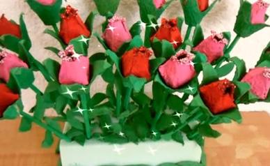 rosas con carton