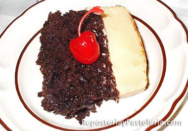 Receta del Pastel de Chocolate y Flan