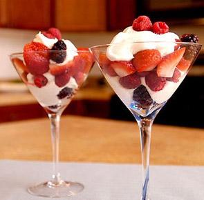 fresas con crema light